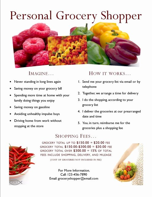 Examples Of Business Flyers Inspirational How to Start A Personal Grocery Shopping Business