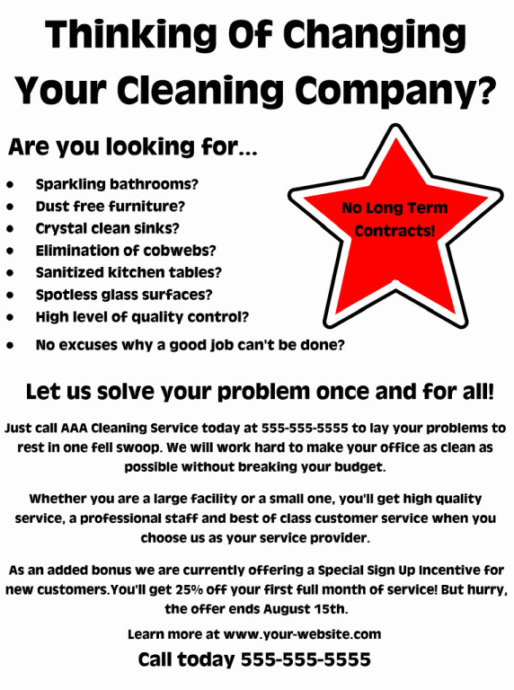 Examples Of Business Flyers Inspirational Mercial Cleaning Flyer – Free