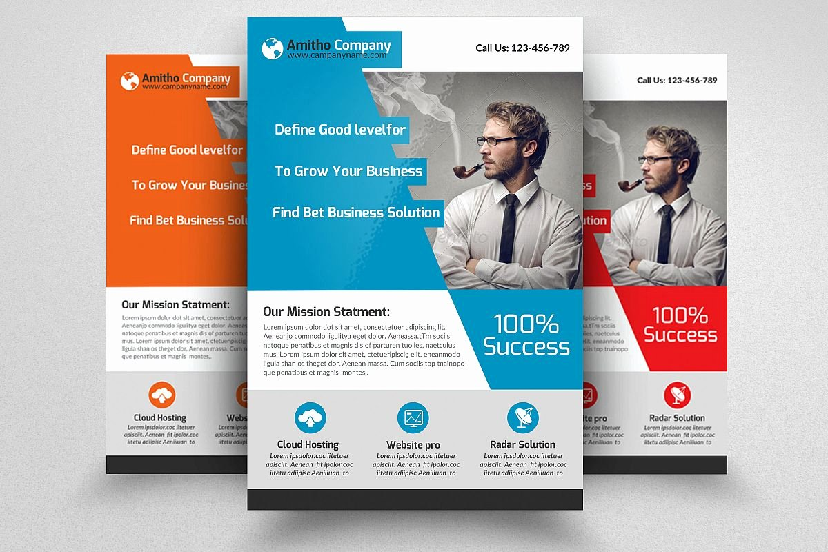 Examples Of Business Flyers Luxury Business Flyers Templates