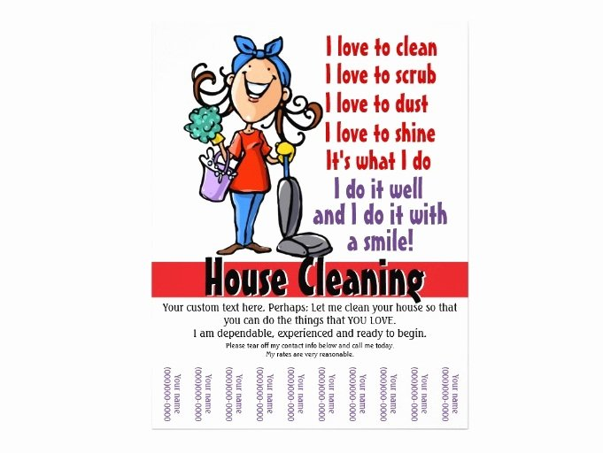 Examples Of Business Flyers Unique House Cleaning Service How to Start House Cleaning Services