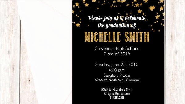 Examples Of Graduation Party Invitations Awesome 48 Sample Graduation Invitation Designs & Templates Psd