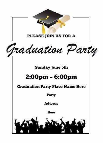 Examples Of Graduation Party Invitations Awesome Free Printable Graduation Open House Invitations Cobypic