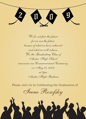 Examples Of Graduation Party Invitations Beautiful Graduation Party Party Invitations Wording