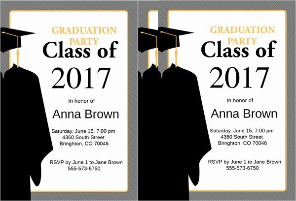 Examples Of Graduation Party Invitations Best Of 48 Sample Graduation Invitation Designs & Templates Psd