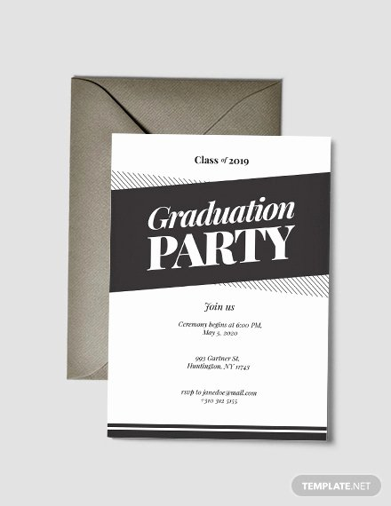 Examples Of Graduation Party Invitations Elegant Free 31 Examples Of Graduation Invitation Designs In Psd