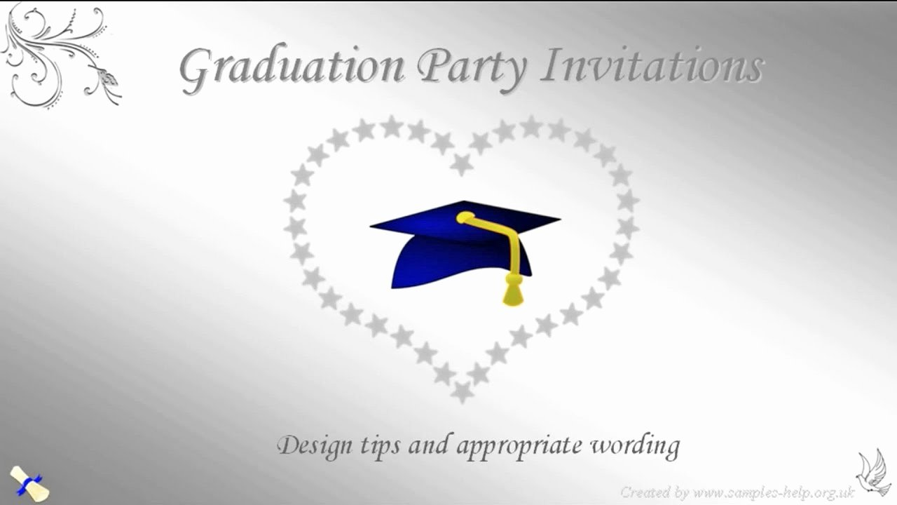 Examples Of Graduation Party Invitations Elegant Graduation Party Invitation Wording