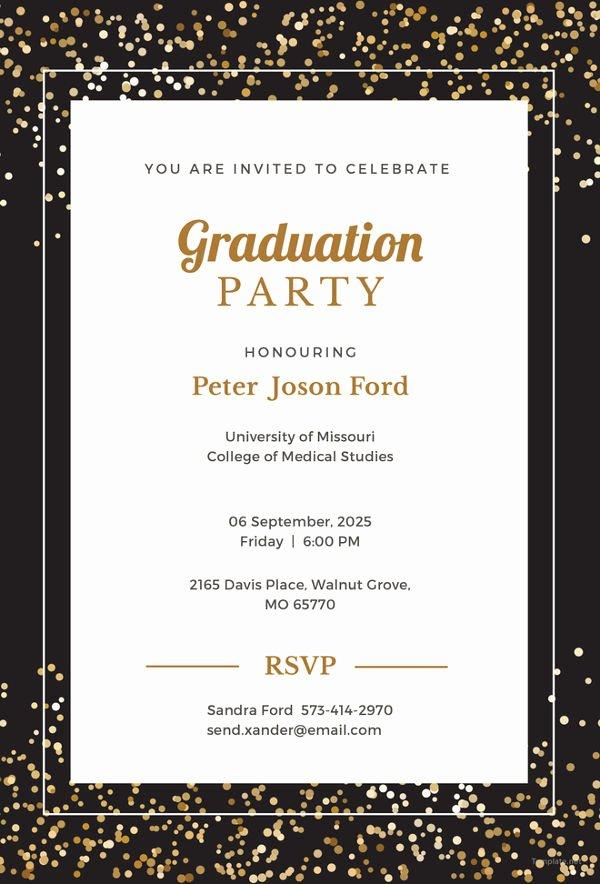 Examples Of Graduation Party Invitations New 19 Graduation Invitation Templates Invitation Templates