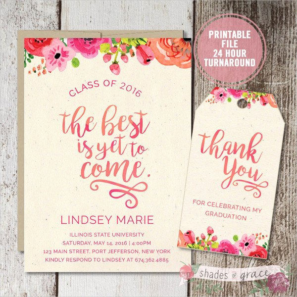 Examples Of Graduation Party Invitations New Free 55 Party Invitation Designs & Examples Psd Ai