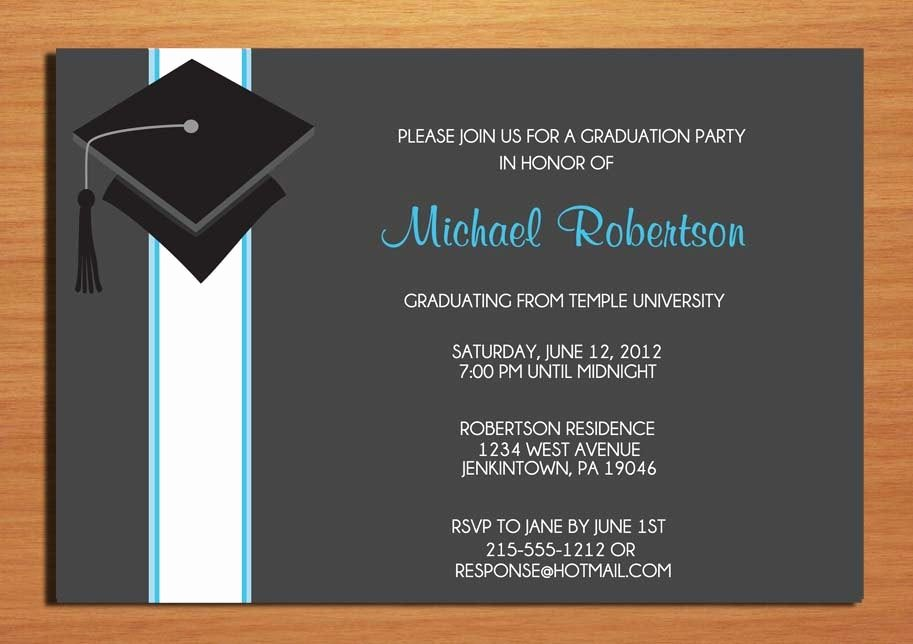 Examples Of Graduation Party Invitations Unique Examples Of Graduation Party Invitations Wording