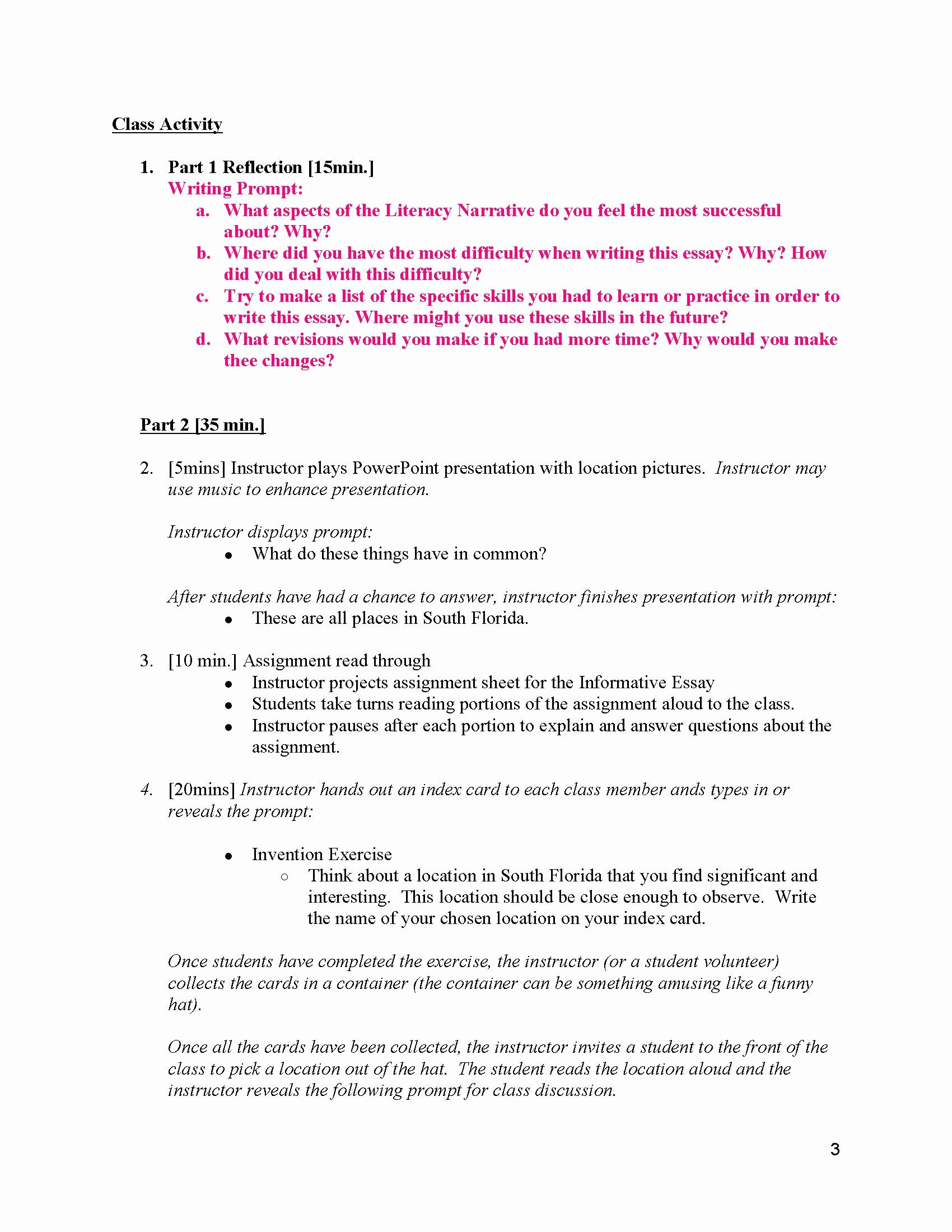 Examples Of Informative Writing Awesome Unit 2 Informative Essay