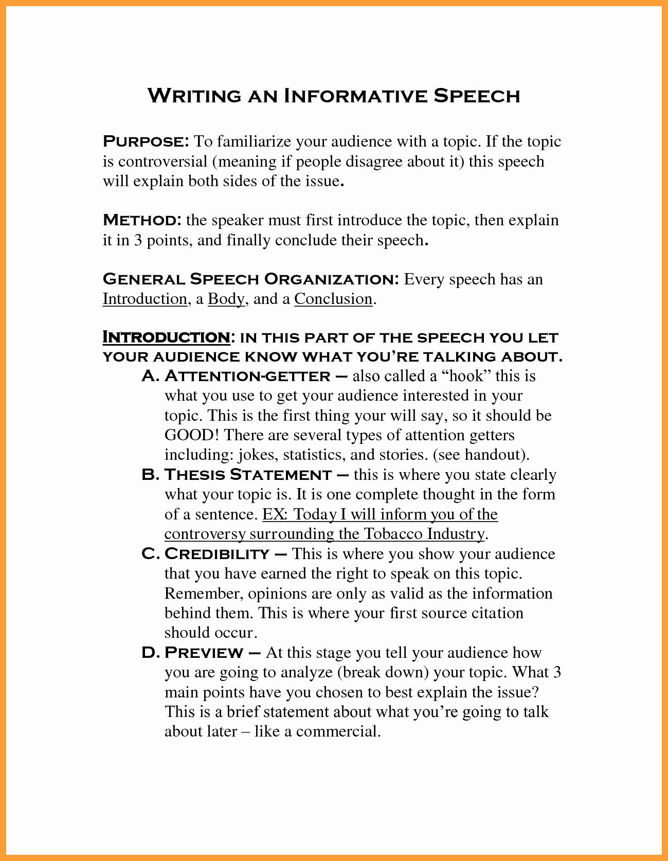 Examples Of Informative Writing Elegant 7 8 Best Informative Speeches
