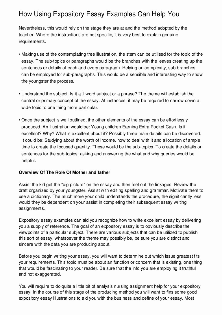 Examples Of Informative Writing Lovely How Using Expository Essay Examples Can Help You