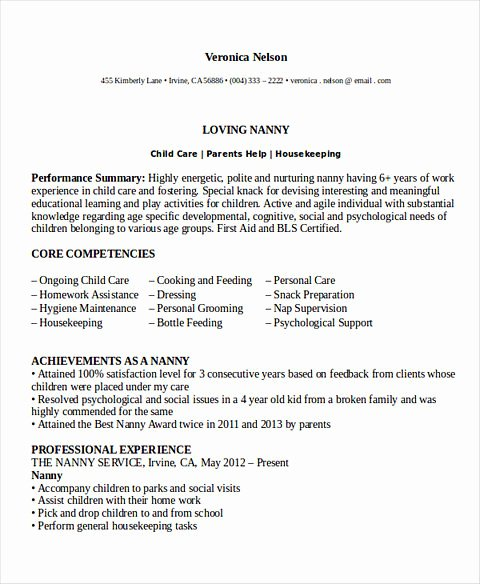 Examples Of Nanny Resumes Beautiful All Things You Should Know About Nanny Resume