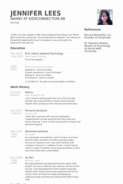 Examples Of Nanny Resumes Inspirational A Nanny Resume Examples Examples Nanny Resume