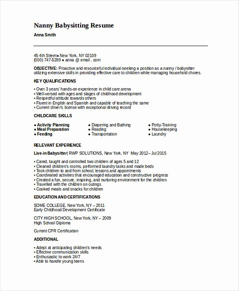 Examples Of Nanny Resumes Luxury All Things You Should Know About Nanny Resume