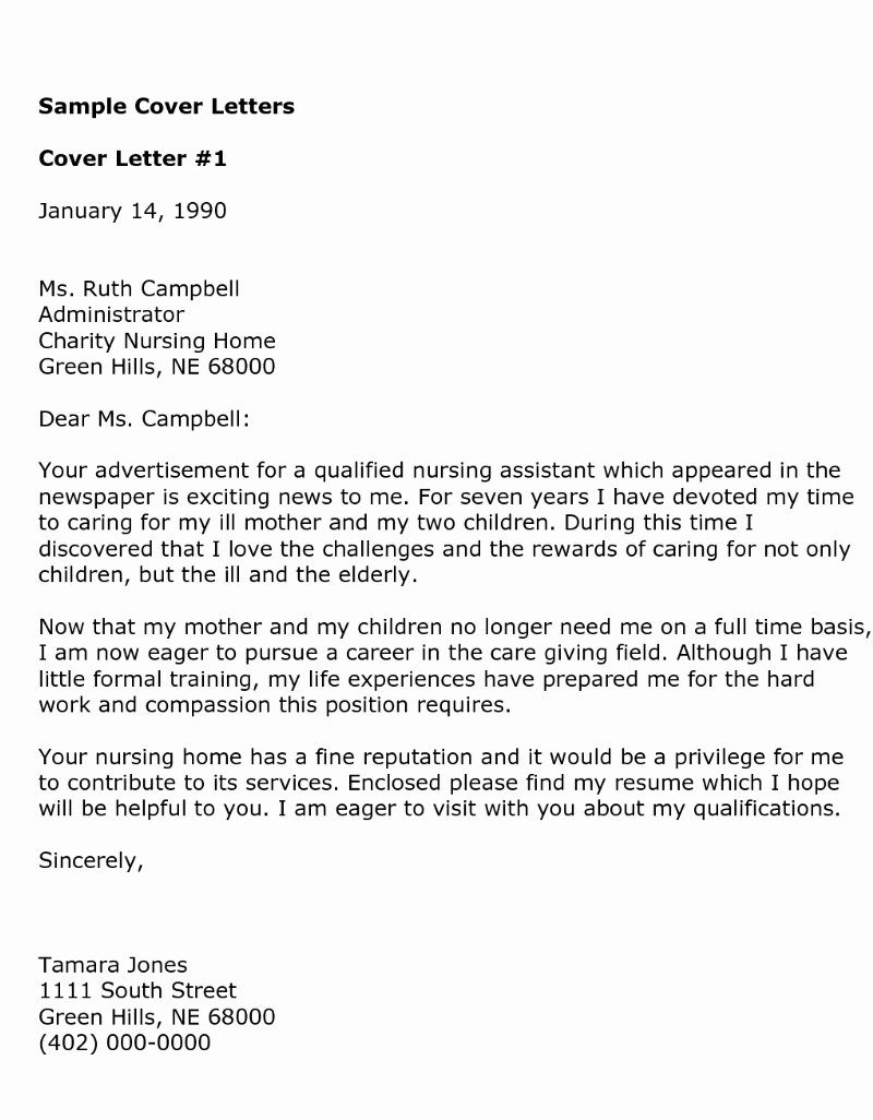 Examples Of Nursing Cover Letters Lovely Cover Letter Samples Download Free Cover Letter Templates
