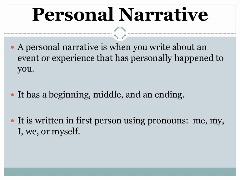 Examples Of Personal Narratives Awesome Personal Narrative Notes