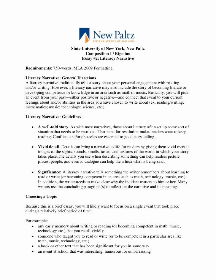 Examples Of Personal Narratives Fresh Narrative Essay assignment Sheet