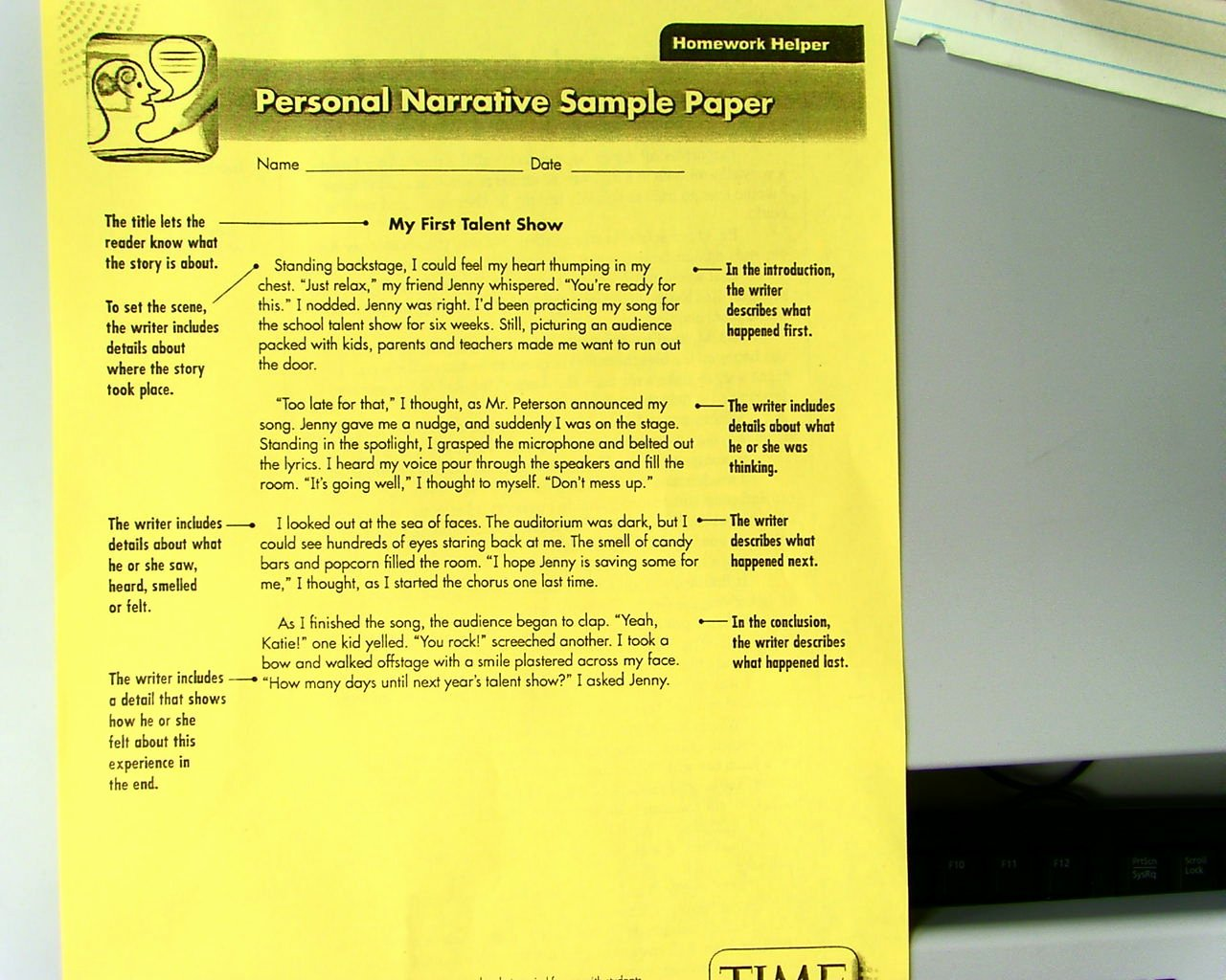 Examples Of Personal Narratives Lovely Mr Bullis S Blog Personal Narrative Example
