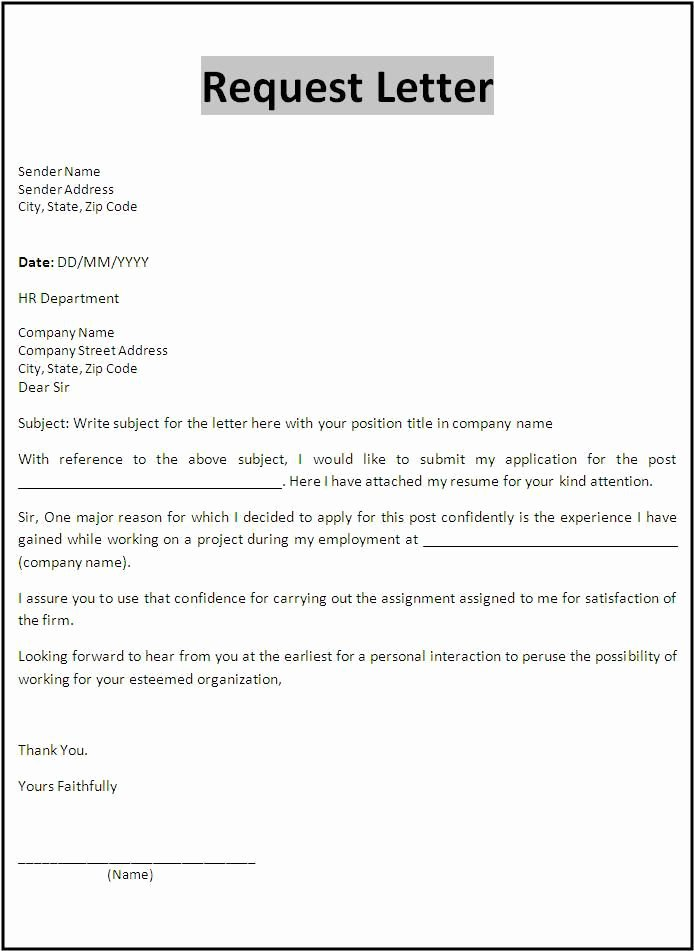 Examples Of Petition Letters Inspirational Request Letter Template Templates