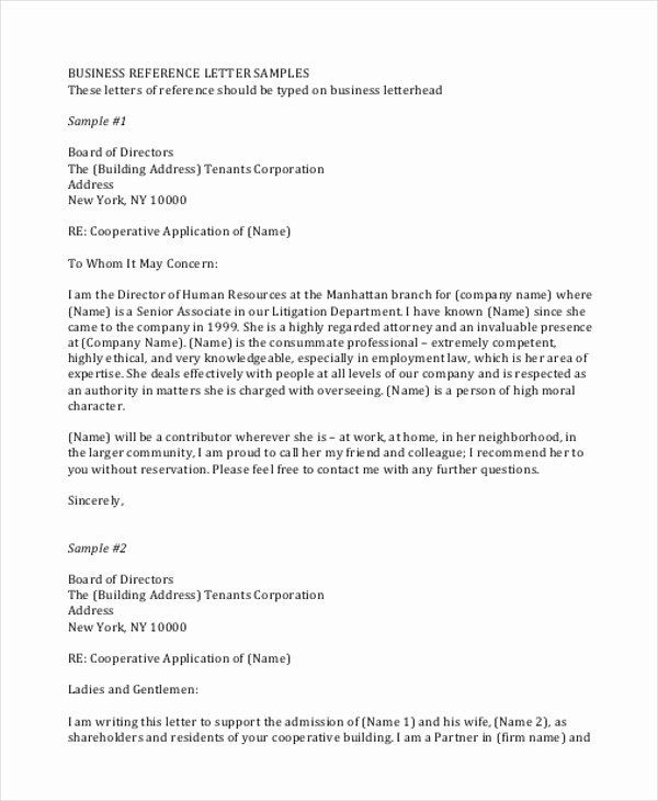 Examples Of Professional Reference Letters Awesome Sample Professional Business Letter 7 Examples In Word Pdf