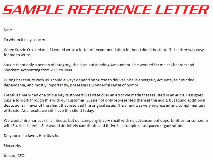 Examples Of Professional Reference Letters Elegant Reference Letters 3000 Example Reference Letter
