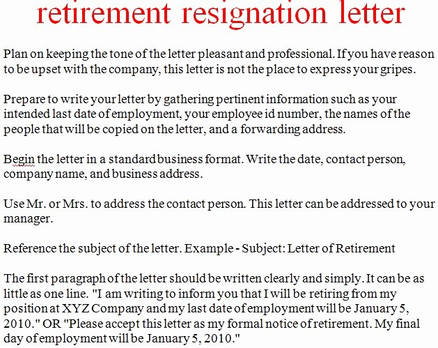 Examples Of Retirement Letters Luxury Download formal Retirement Letter Template Free