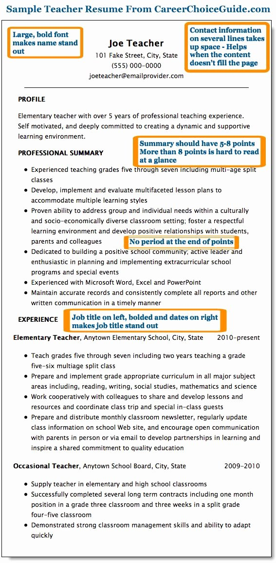 Examples Of Teaching Resumes Beautiful 25 Best Ideas About Teaching Resume On Pinterest