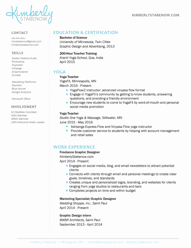Examples Of Teaching Resumes Lovely How to Create the Perfect Yoga Teacher Resume the Yoga