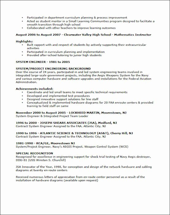 Examples Of Teaching Resumes Lovely Teaching Resume Example Sample Teacher Resume