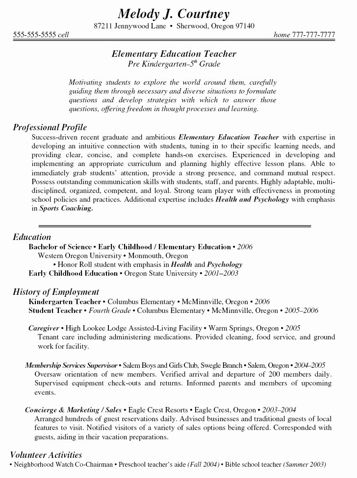 Examples Of Teaching Resumes Luxury 19 Best Images About Resume On Pinterest