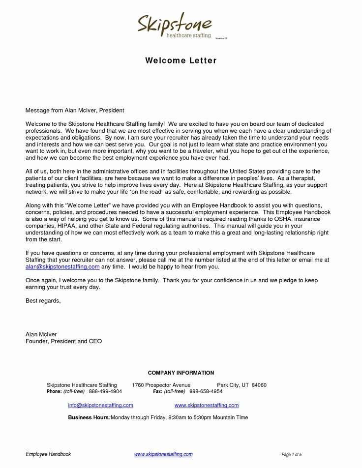 Examples Of Welcome Letters Awesome Wel E Letters Backgroundwel E Letter Business Letter
