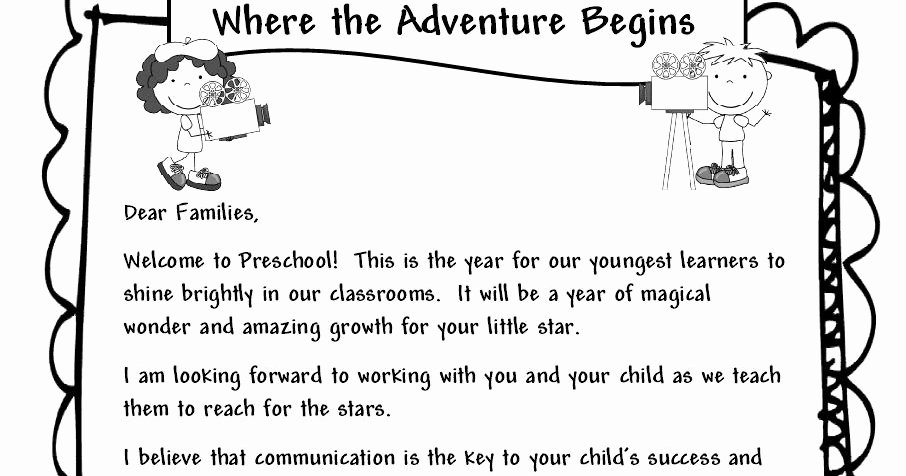 Examples Of Welcome Letters Best Of Learning and Teaching with Preschoolers Wel E Parents