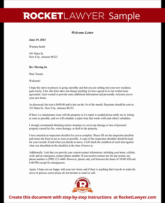 Examples Of Welcome Letters Elegant Wel E Letter Template Free Wel E Letter with Sample