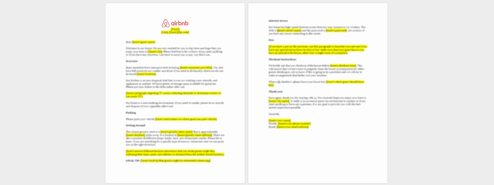 Examples Of Welcome Letters Fresh Airbnb Wel E Letter Template with Download Airbnb Guide