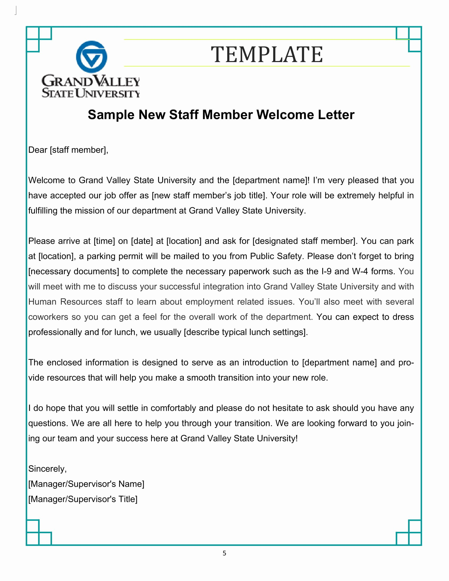 Examples Of Welcome Letters Unique 9 New Hire Wel E Letter Examples Pdf