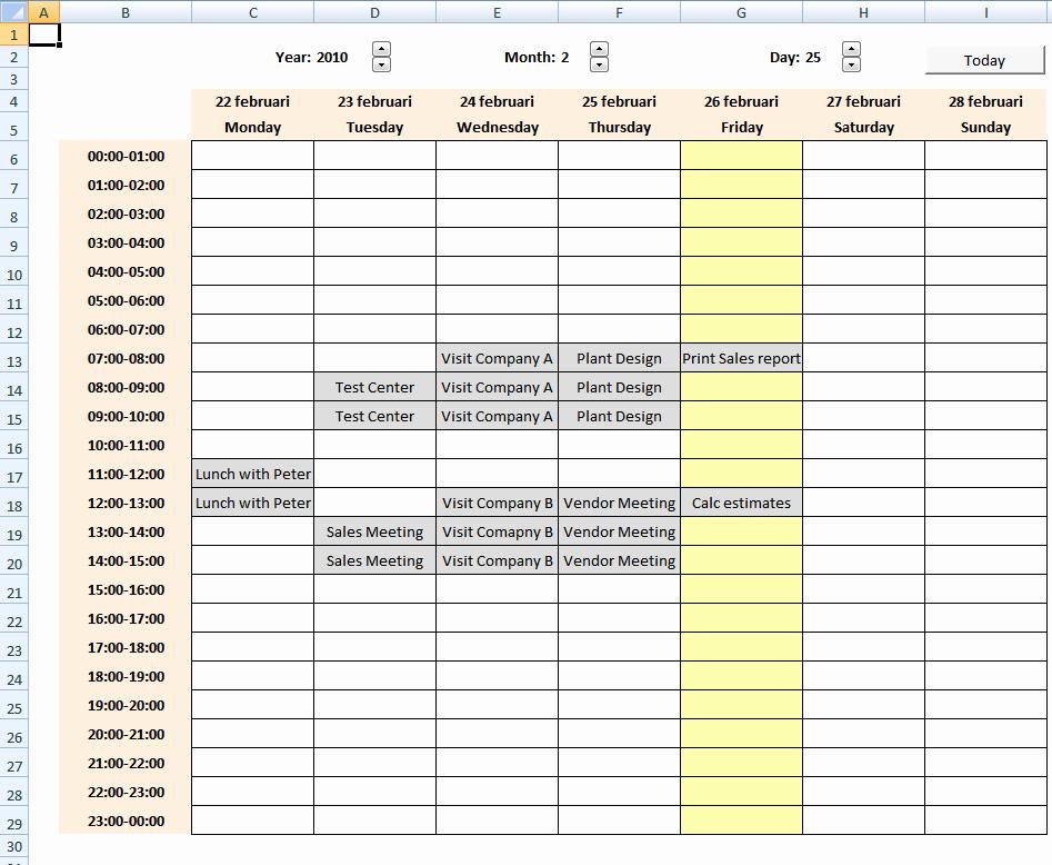 Excel 2010 Calendar Template Awesome Excel Calendar [vba]