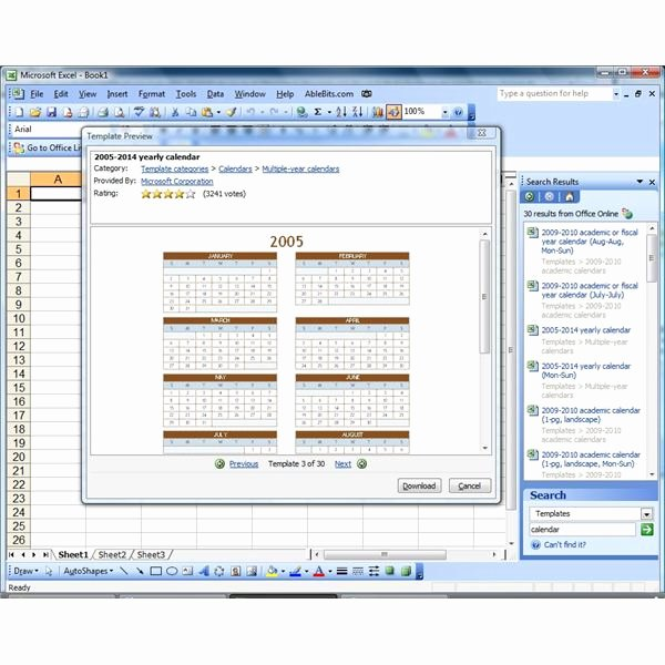 Excel 2010 Calendar Template Lovely Create A Calendar In Microsoft Excel or Insert A Reference