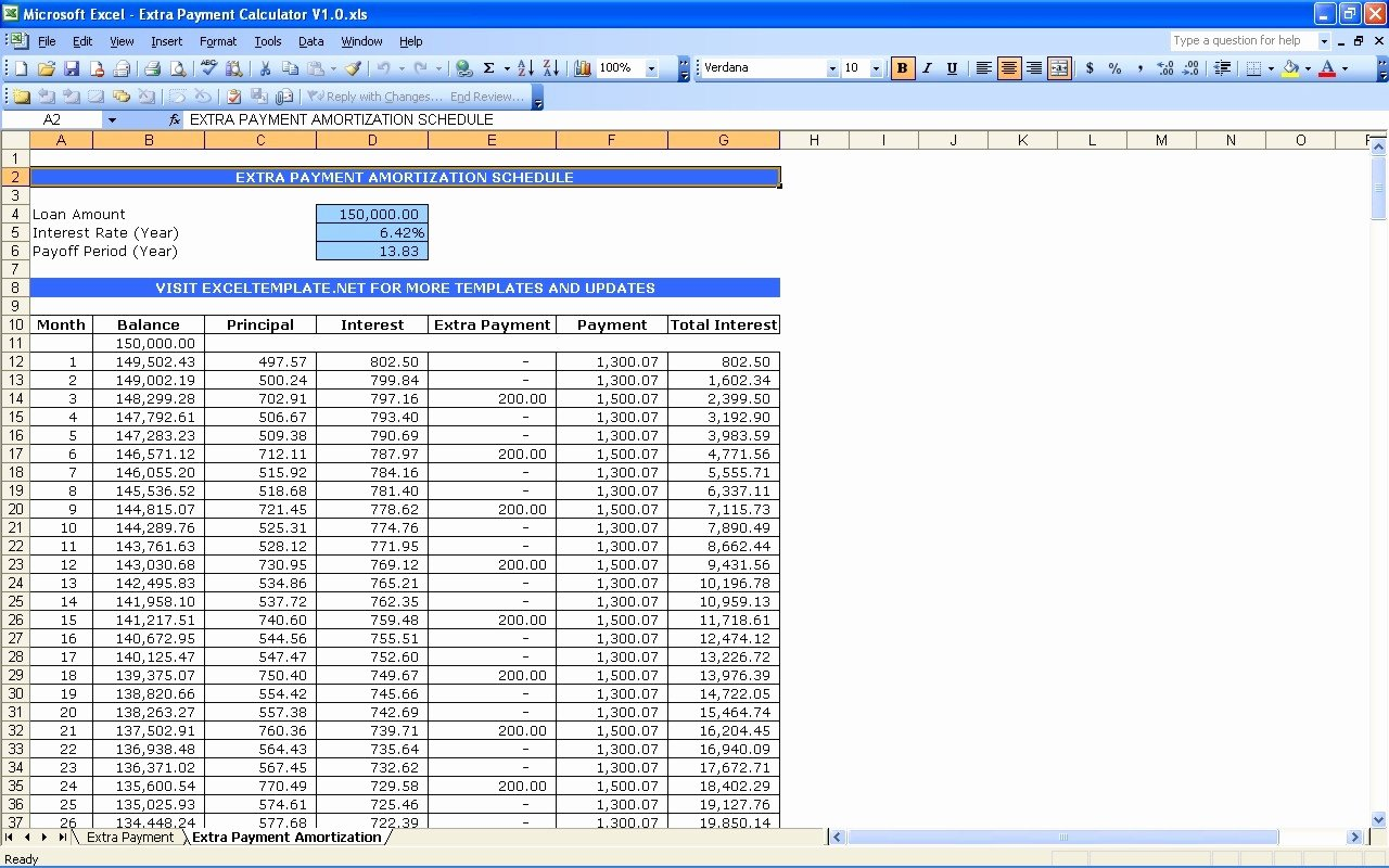 Excel Auto Loan Calculator Elegant Auto Loan Amortization Schedule Excel Template