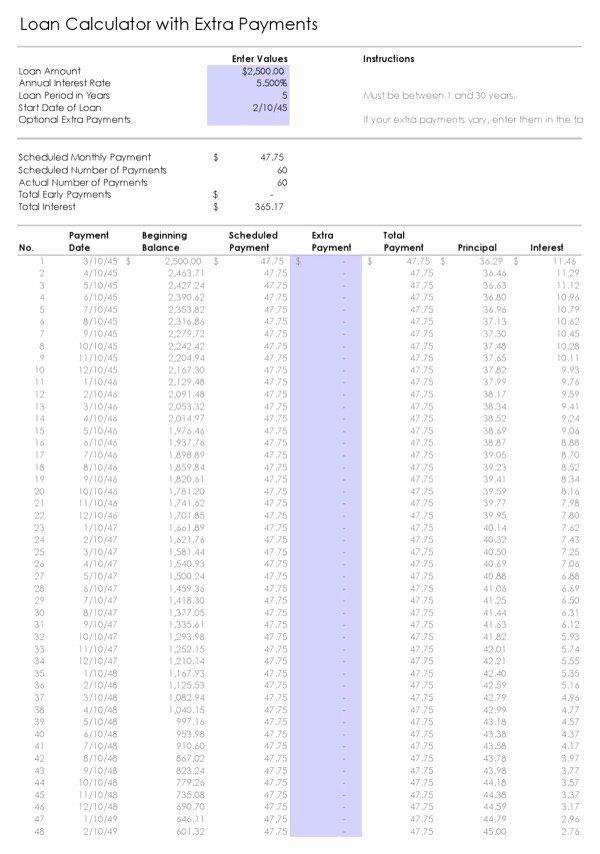 Excel Car Loan Calculator Fresh Download Car Loan Calculator Excel for Free