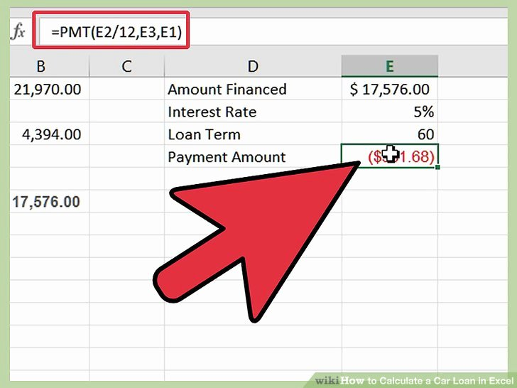 Excel Car Loan Calculator Inspirational How to Calculate A Car Loan In Excel 10 Steps with