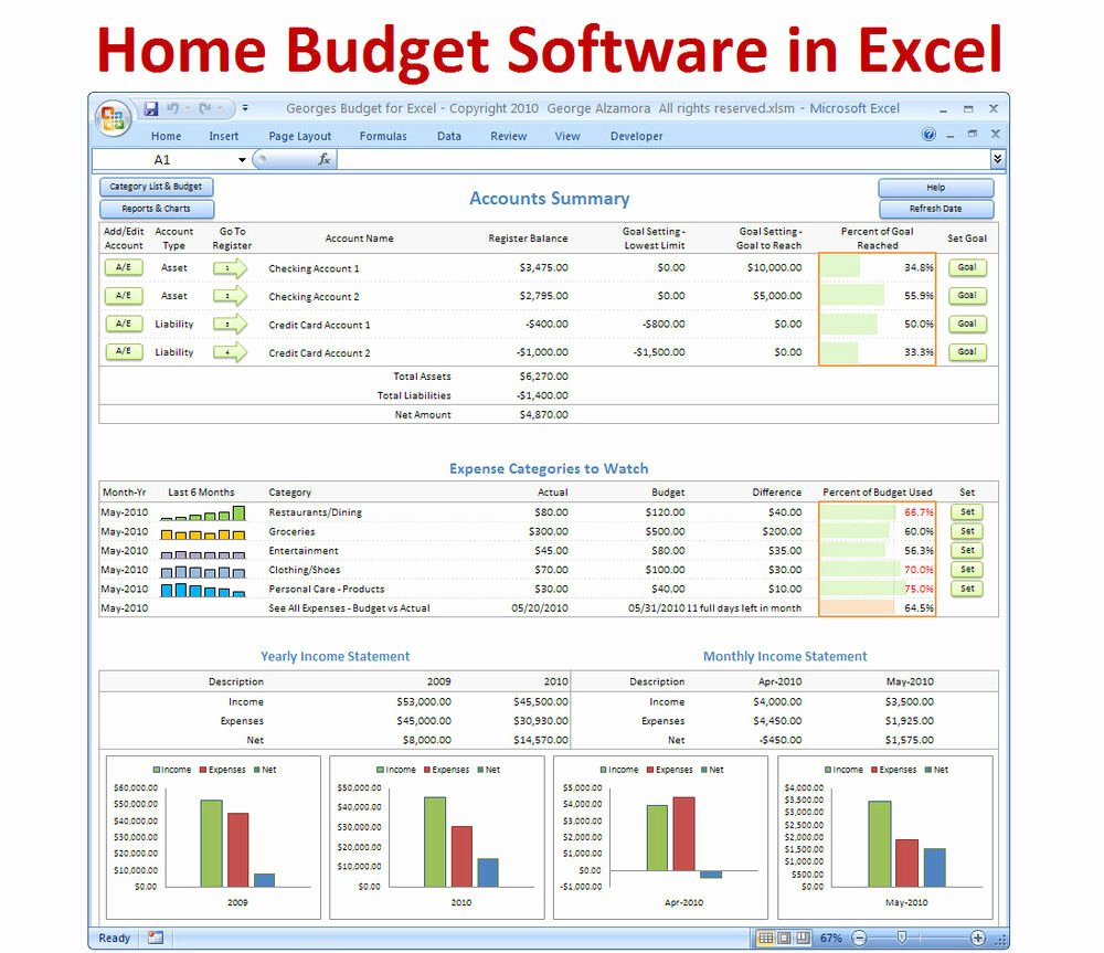 Excel Home Budget Template Awesome Personal Bud Ing software Excel Bud Spreadsheet