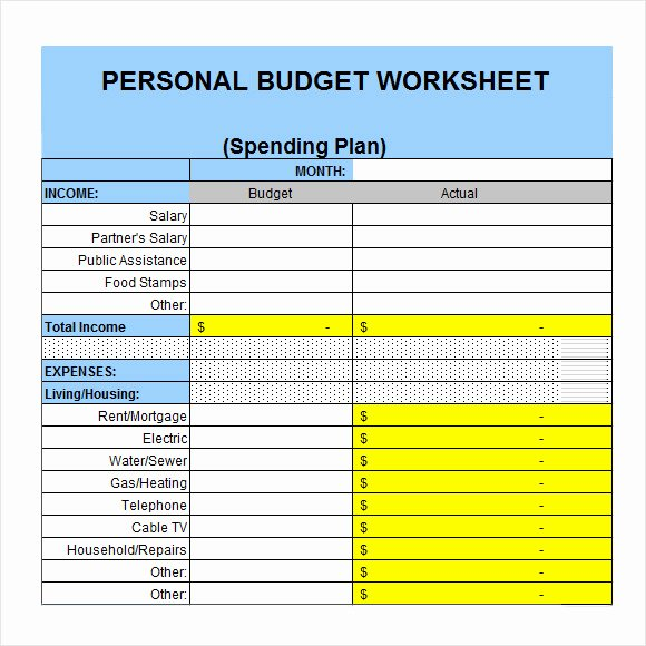 Excel Home Budget Template Awesome Personal Bud Template