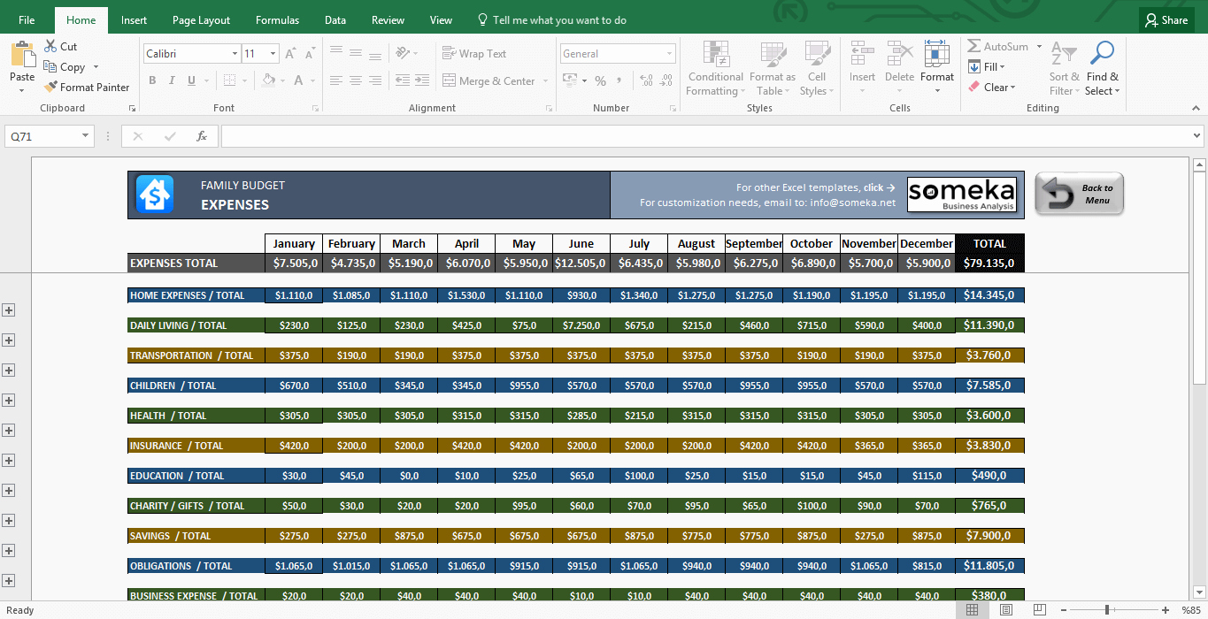 Excel Home Budget Template New Family Bud Template In Excel