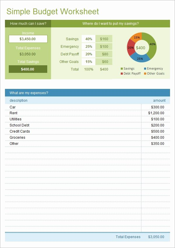 Excel Home Budget Template New Free 9 Bud In Samples Example format
