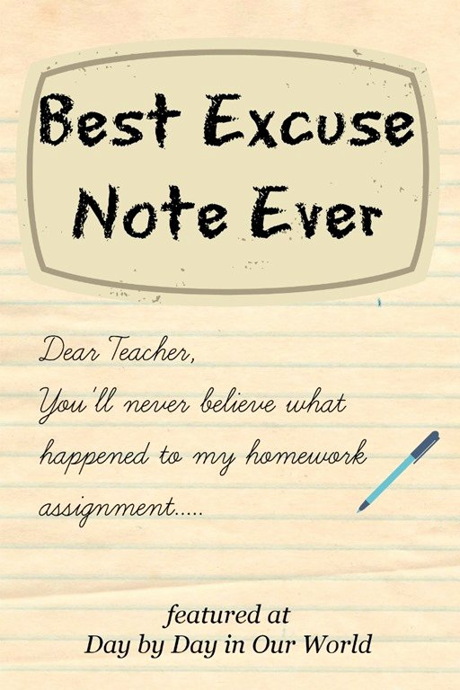 Excuse Note for School Absence Beautiful Writing Sample Best Excuse Note Ever