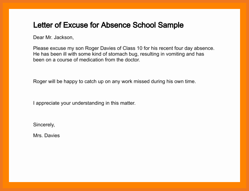 Excuse Note for School Absence Lovely 6 7 How to Write Permission Letter