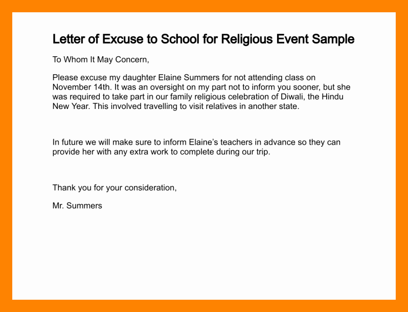 Excuse Note for School Absence Luxury 5 Excuse Letter Due to Sickness