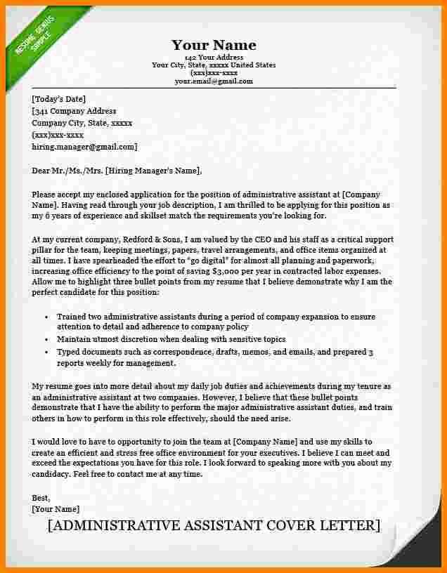 Executive Administrative assistant Cover Letter Unique 5 Cover Letter for Executive assistant