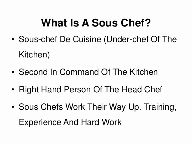 Executive sous Chef Job Description Beautiful What is A sous Chef A Job Description and Definition